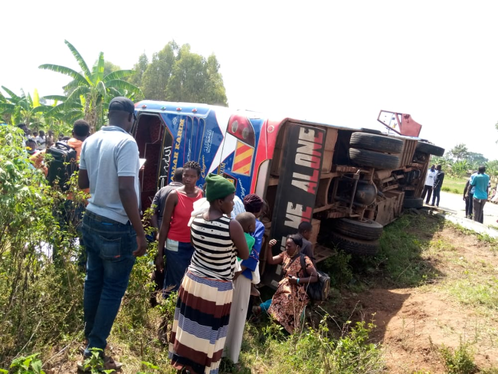 YY Bus involved in accident in Bukedea